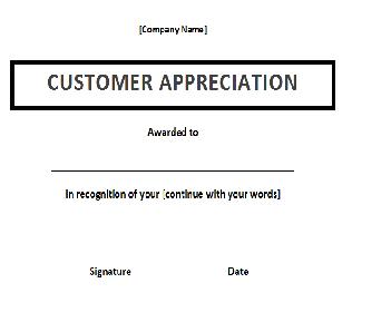 appreciation award template
