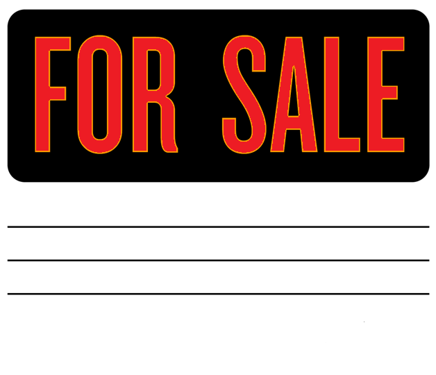 for sale by owner signs template