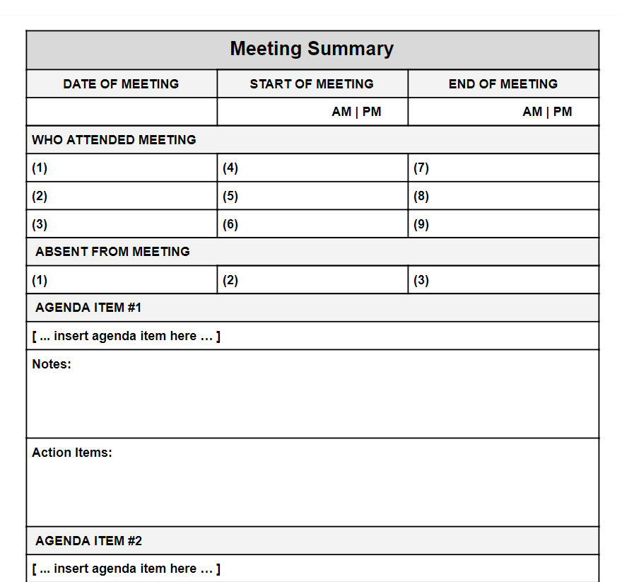 Meeting Recap Template from www.atyourbusiness.com