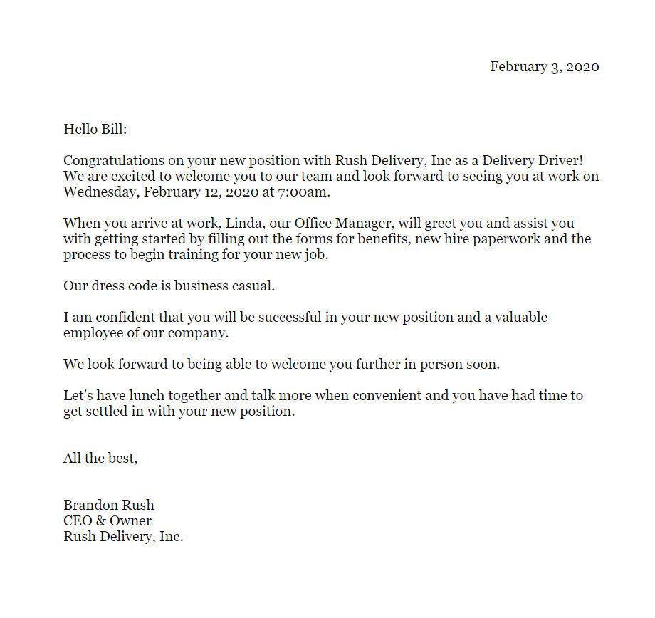 New Manager Welcome Letter To Team from www.atyourbusiness.com
